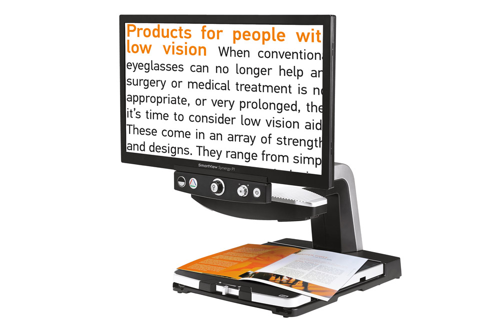 SmartView Synergy PI 23 in video magnifier with standard control