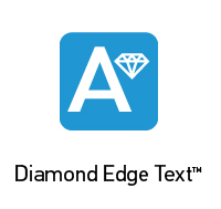 Diamond Edge Text Logo